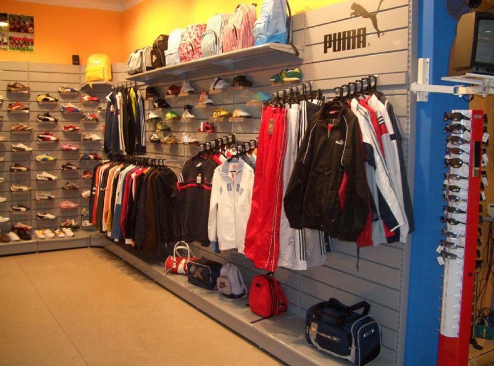 Suministro de mobiliario para tiendas de deportes