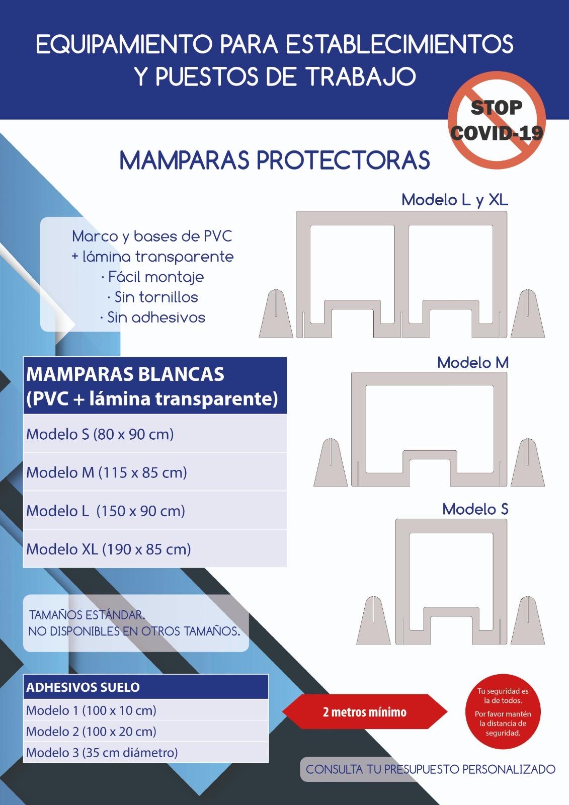 Mampara COVID PVC